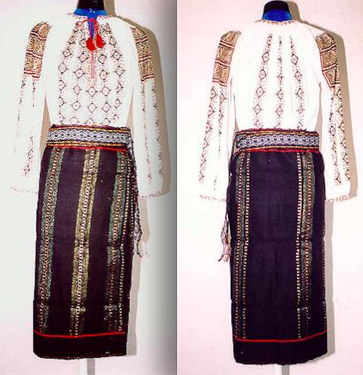 Women's costume from the region of central Moldavia