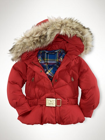 Fur-Trimmed Hooded Jacket - Outerwear & Jackets   Girls 2-6x - RalphLauren.com