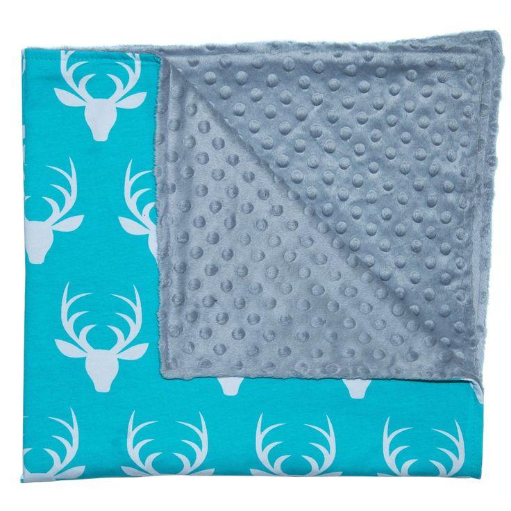 Baby Stroller Blanket Aqua Deer