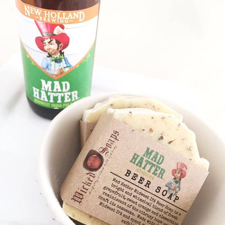 Mad Hatter IPA Beer Soap - Handmade Soap, Artisan Soap, Beer Soap by WickedSoaps on Etsy https://www.etsy.com/listing/505085406/mad-hatter-ipa-beer-soap-handmade-soap