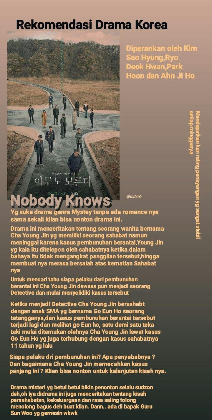 Drakor Nobody Knows : drakor, nobody, knows, Nobody, Knows, Drama, Korea,, Drama,, Bagus