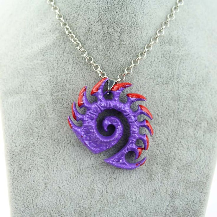 Starcraft Purple Metal Necklace