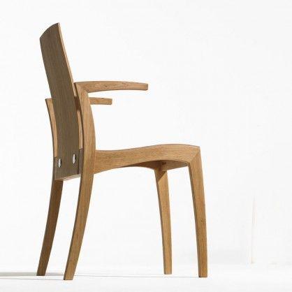 Designerstuhl Rank mit Armlehne von sixay #stuhl #holz #ergonomisch