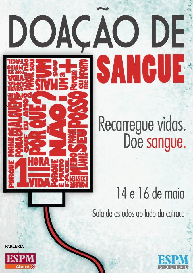 Campanha de doação de sangue da ESPM Social. Participe!