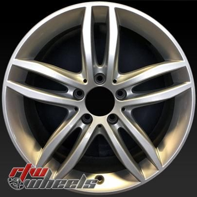 "Mercedes C Class oem wheels for sale 2012-2014. 17"" Rear Silver rims 85259 - https://www.rtwwheels.com/store/shop/17-mercedes-c-class-oem-wheels-for-sale-silver-rims-85259/"