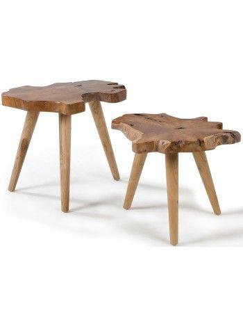 ++Si+algo+distingue+este+conjunto+de+2+pequeñas+mesas+es+satisfacción+étnica+en+su+especial+diseño,+como+en+la+naturaleza,+teca+tronco+disecado+por+que+se+hace.++