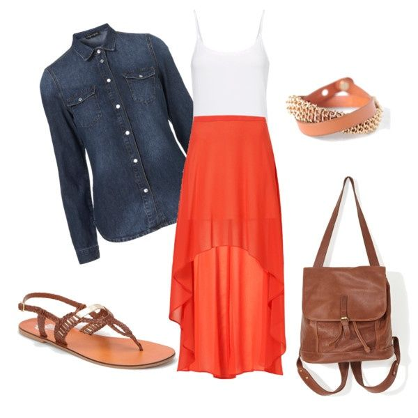 The Perfect Back-to-School Outfit | Her Campus. High Grades in a High-low Skirt