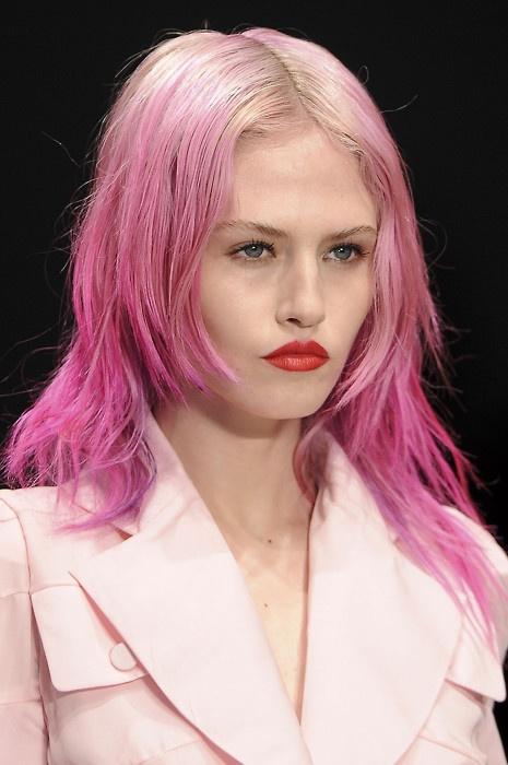 #pinkhair #charlottefree #model #catwalk #pink