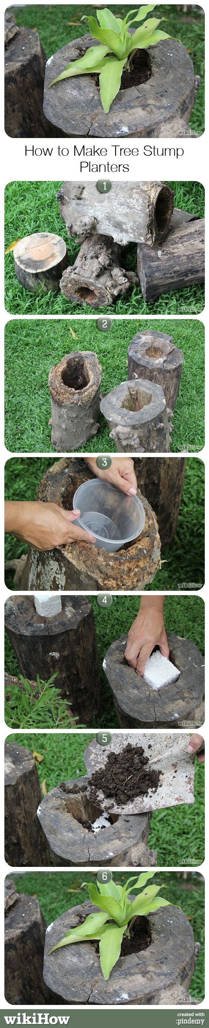 How to Make Tree Stump Planters                                                                                                                                                      More