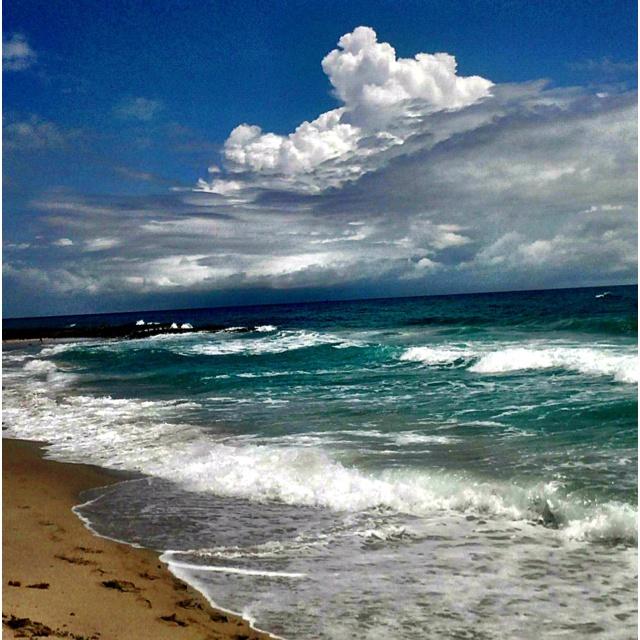 Jupiter beach in Jupiter Florida