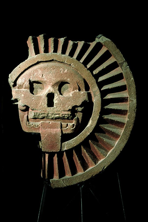 Disc with a skull in the middle  Teotihuacan, Early Classic (300-550 A.D.) Teotihuacan, State of Mexico