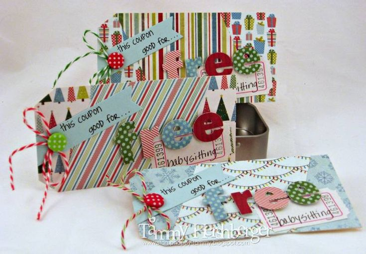Free Babysitting Coupons with Die-Namics by stampertammy - Cards and Paper Crafts at Splitcoaststampers