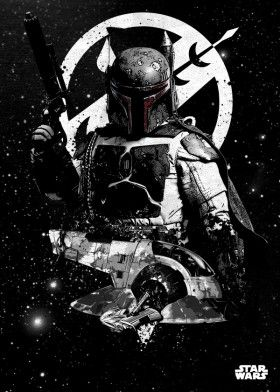 boba fett slave one bounty hunter star wars lucas