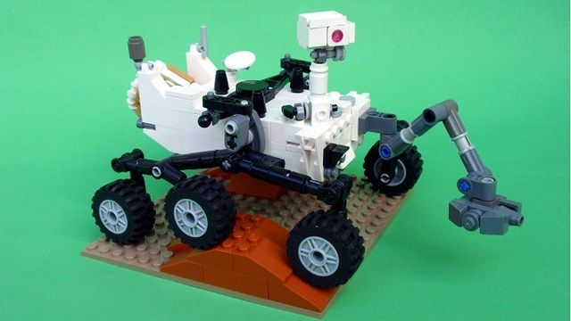 Mars Science Labratory Curiosity Rover from Perijove on http://lego.cuusoo.com/ (site has a link to instructions so you can make your own)