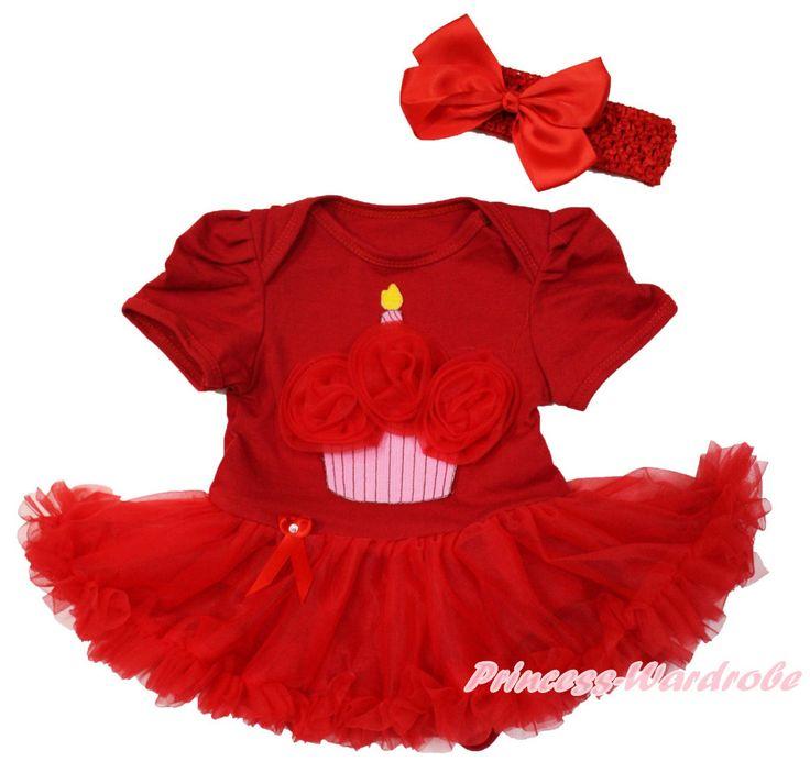 Красный торт ко дню рождения горячий красный боди красный юбка девочка платье NB-18M MAJS0261