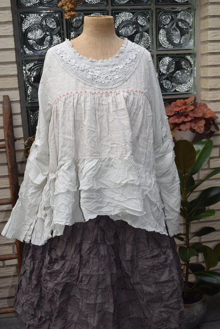 ewa i walla blouse double cotton 44462 aw15 cream kleider pinterest wickelkleider. Black Bedroom Furniture Sets. Home Design Ideas