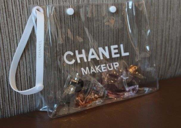 New Chanel Clear Cosmetic Bag Case Sports VIP Gift 2013