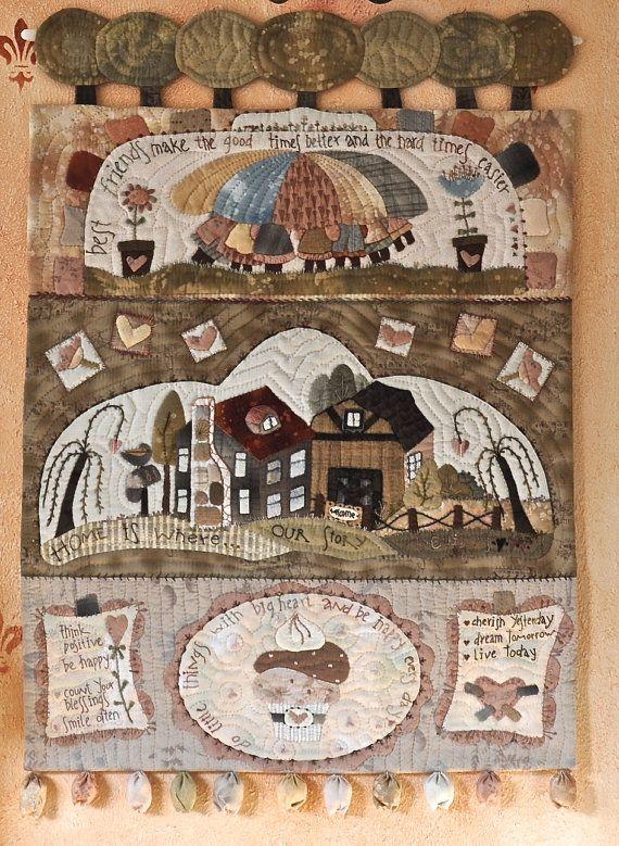 Beste vrienden  muur opknoping quilt-papieren patroon door