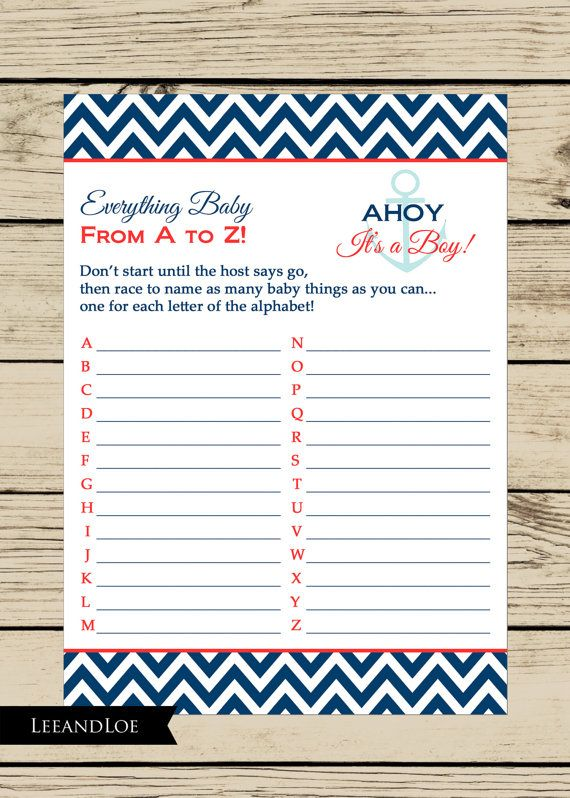 nautical baby shower game for baby boy instant by leeandloe mj 39 s