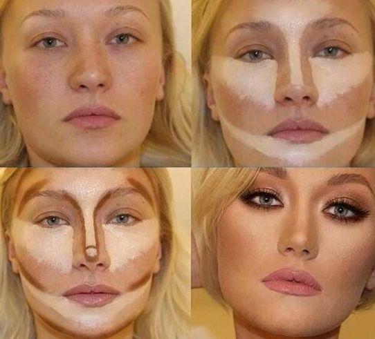 maquillaje para cara alargada bonito