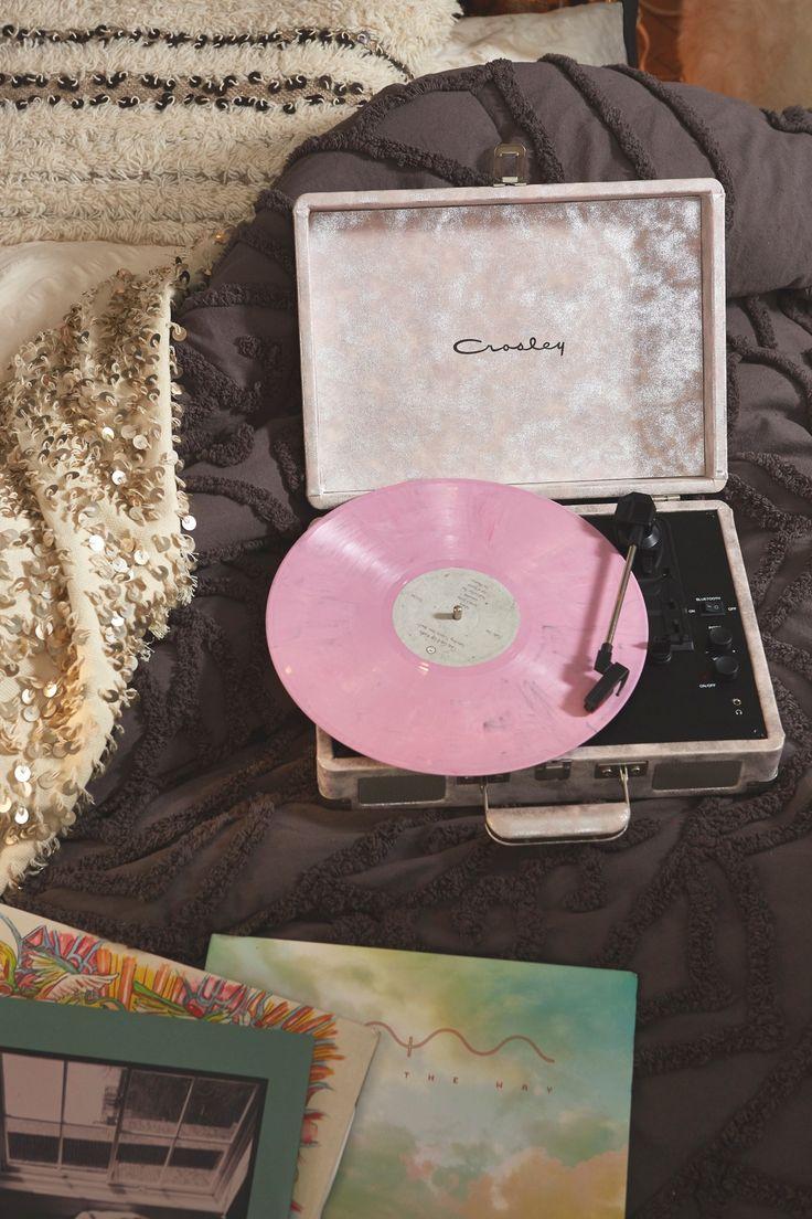 Uo X Crosley Metallic Turntable With Bluetooth Streaming Capabilities Record Player Vinyl Record Player Vinyl