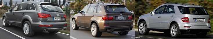 Photo and technical specs comparison: BMW X5 LCI vs. Audi Q7 vs. Mercedes-Benz ML