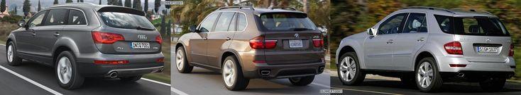 Photo and technical specs comparison: BMW X5 LCI vs. Audi Q7 vs. Mercedes-Benz ML