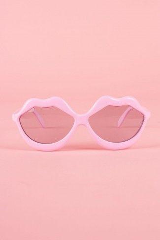 lip shaped sunglasses!