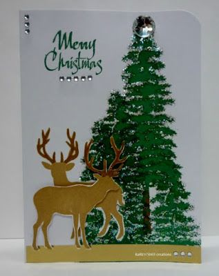 BaRb'n'ShEll Creations- Silhouette tree & deer cards, Kaszazz - BaRb