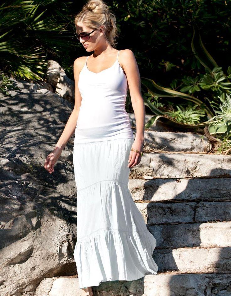 White Maternity Maxi Skirt | Seraphine