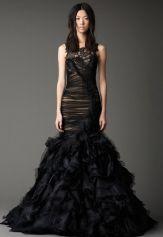Vera Wang w Czarnym Wydaniu Czarna Suknia Ślubna
