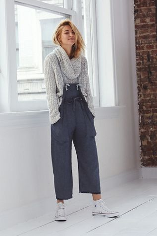 Unwind | Intimately Make My Baby Stay Jumper at Free People | Super soft and drapey overalls with cross-back |: