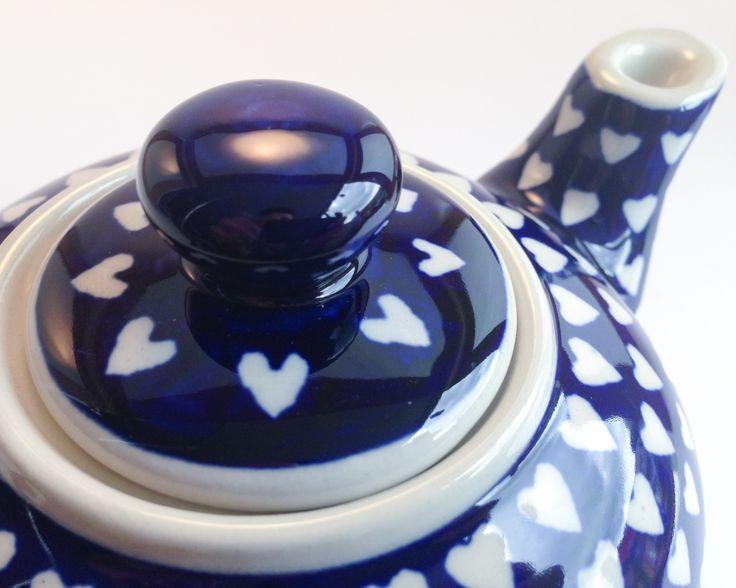 Teapot 0.42l #polishpottery #boleslawiec #teapot #handpainted
