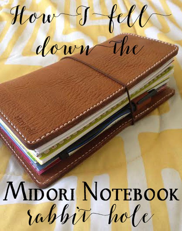 I recently started using the Midori-style traveler's notebook as a planner, and it has changed my life.