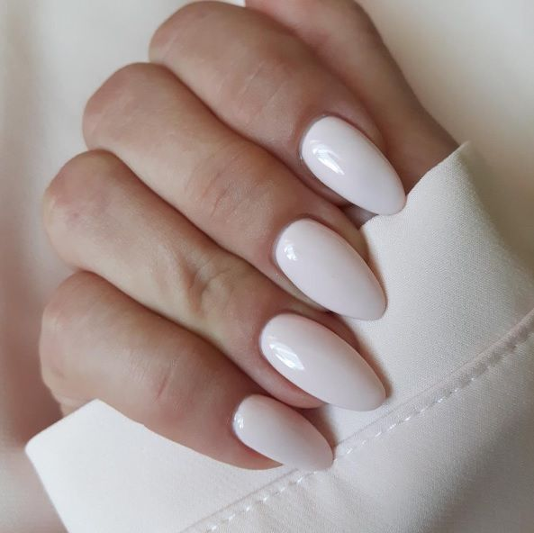 Artistic Colour Gloss Love on Almond shaped nails.