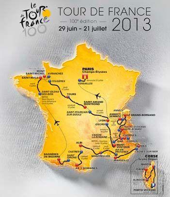 Tour de France 2013 / Official Map !
