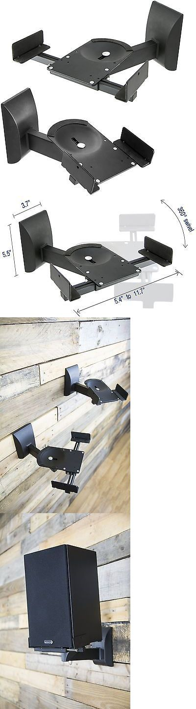 Speaker Mounts and Stands: Vivo Dual Pair Adjustable Wall Mounting Surround Sound Speaker Mounts Clamp S... BUY IT NOW ONLY: $30.99