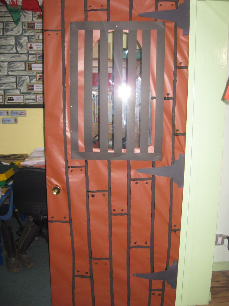Castle classroom door