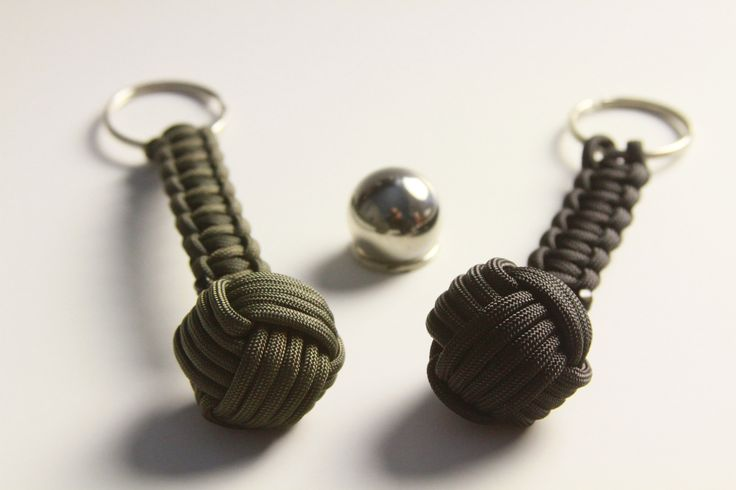 """These are Z.A.P.S. Gear Monkey Fist Key Chains for self defense. That 1"""" steel ball bearing is what is inside."""