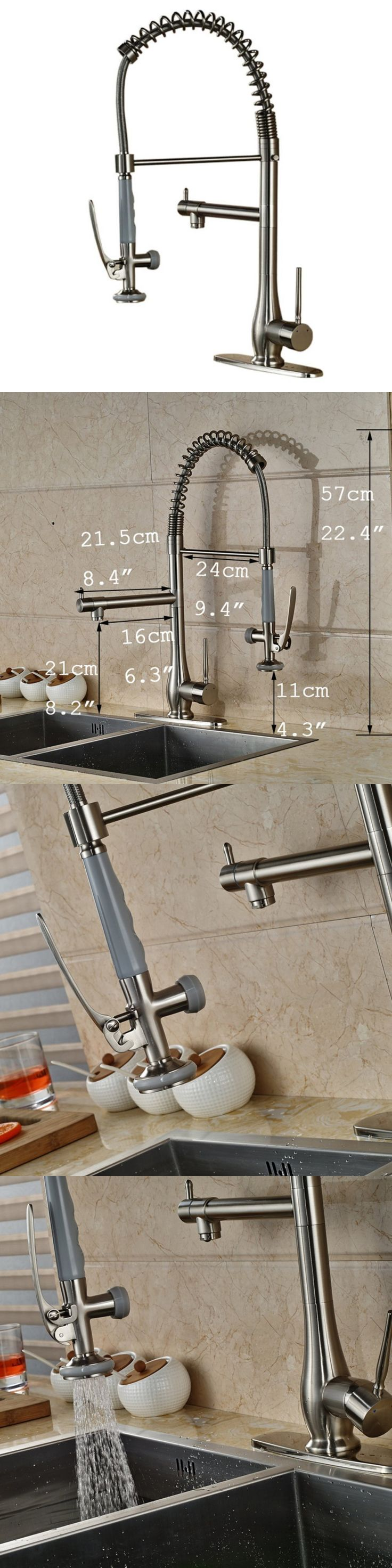 Laundry sink ebay - Faucets 42024 Votamuta Commercial Style Single Handle Pull Down Kitchen Sink Faucet With Spray