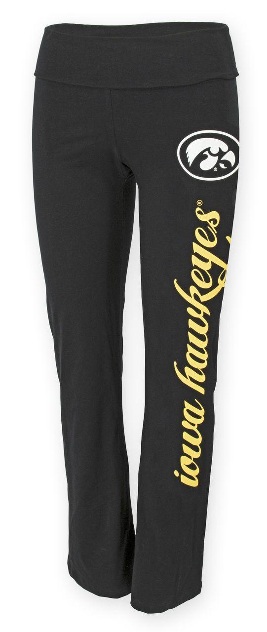 Iowa Hawkeyes Ashley Yoga Pants - AUTHENTIC BRAND
