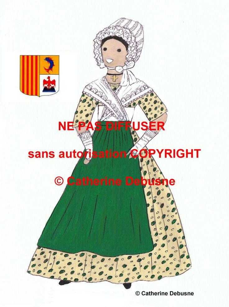 """J'ai dessiné tous les départements.Voir mon livre """" La France en costumes..."""""""