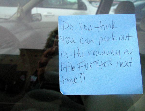 The 40 Best Passive Aggressive ParkingNotes