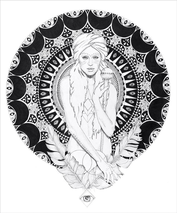 "Tahnee Kelland Art  ""Warrior Mother"" www.facebook.com/tahneekellandart  Instagramm: @tahnee_kelland"