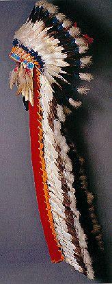 the plains indian war bonnet