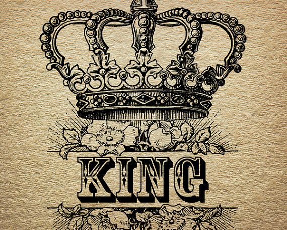 King Crown Royalty Roses Victorian Antique Digital Image Download Transfer To Pillows Tote Bags Tea Towels Burlap No. 0054