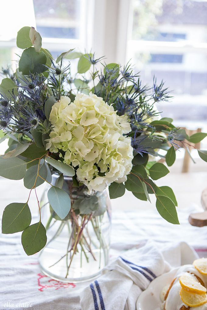 Spring Lemons Ella Claire Hydrangea Flower Arrangements Flower Arrangements Simple Artificial Flower Arrangements
