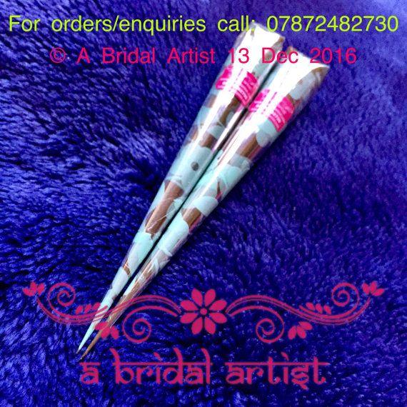 Henna Cones  2 x 25g Fresh Natural Bridal Quality by ABridalArtist