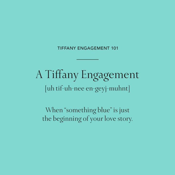 "Tiffany Engagement Rings 101 A Tiffany Engagement: When ""something blue"" is just the beginning of your love story."