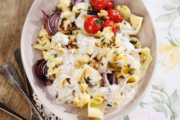 Kijk wat een lekker recept ik heb gevonden op Allerhande! Pappardelle met truffel-roomsaus en bloemkool